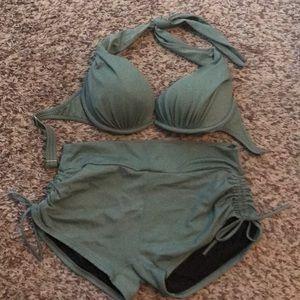 SOLD Army Green Venus Bikini 8 C EUC